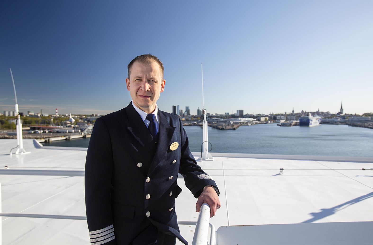 Tallink Megastarin intendentti Hendrik Väli.