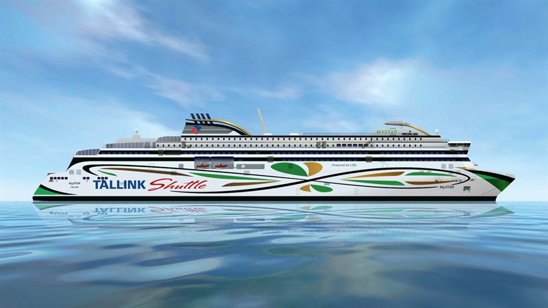 Tallinkin uusi MyStar-alus liikennöi Helsingin ja Tallinnan välillä vuodesta 2022 alkaen.