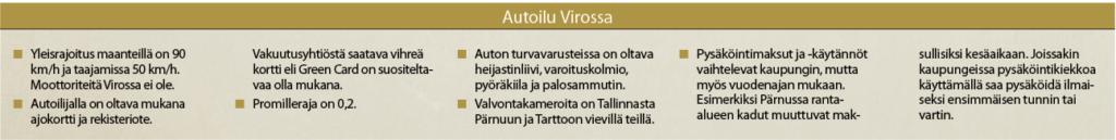 AUTOILU VIROSSA