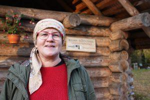 Mooskan talon emäntä Eda Veeroja oli yksi Unesco-hankkeen vetäjistä.