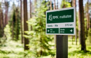 RMK:n Matkatee-reitti kulkee Pohjois-Kõrvemaan kautta. Latvian rajalle on vielä yli 300 kilometriä patikoitavaa.