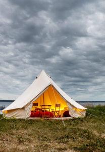 Glämping Clubin teltat ovat yksi majoitusvaihtoehto Viru Folkissa.