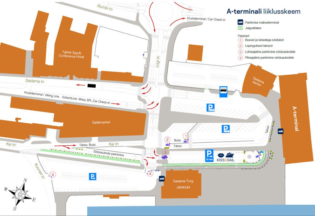 Tallinnan Sataman A Terminaalissa Uusia Liikennejarjestelyja Ja