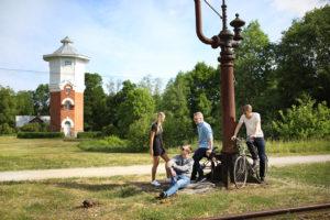 Ristin vesitornista pumpattiin vettä höyryvetureihin.