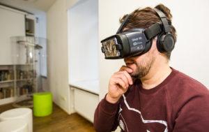 Virtuaalilasien avulla pääsee kurkistamaan majavien kiehtovaan perhe-elämään.
