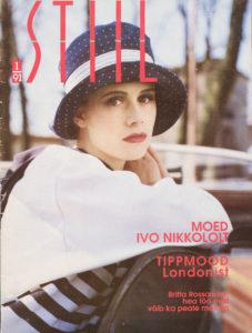 Anne Kukkohovi vuonna 1991 virolaisen muotilehti Stiilin ensimmäisen numeron kannessa.