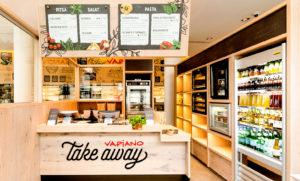 Erityisesti pitsoja ja pastoja tarjoileva Vapiano on avannut noutopisteen.