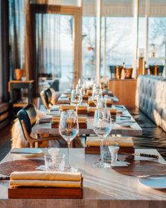 NOA Chef's Hallissa sekä ruoka että sisustus on mietitty pienimpiä yksityiskohtia myöten.