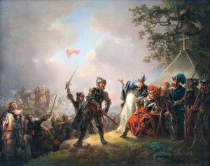 Legendan mukaan Tanskan lippu Dannebrog laskeutui taivaasta Tallinnaan Lyndanisen taistelussa 1219. C. A. Lorentzenin maalaus vuodelta 1809 on nähtävänä Kadriorgin taidemuseossa 16.6. alkaen.