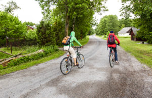 Saaren ehtii päivässä kiertämään polkupyörälläkin. Pyöriä voi vuokrata Svibyn satamasta.