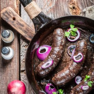 Virolainen makkara on usein hyvin lihapitoista.