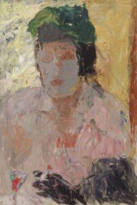 Rohkea koloristi ja ekspressionisti Elga Sesemann oli omaperäisimpiä sodanjälkeisiä suomalaistaiteilijoita. Kahvilassa, 1945.